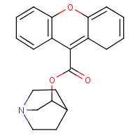 3-quinuclidinyl xanthene-9-carboxylate