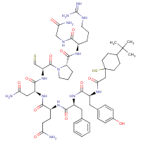 argipressin, (4-tert-butyl-1-mercaptocyclohexaneacetic acid)(1)-