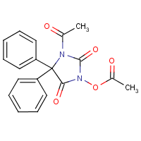 1-acetyl-3-acetoxy-5',5-diphenylhydantoin