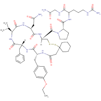 vasopressin, beta-mercapto beta,beta-cyclopentamethylenepropionic acid(1)-O-ethyl-Tyr(2)-Val(4)-Cit(8)-