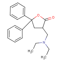 3-diethylaminomethyl-3,3-diphenyl-2-dihydrofuranone