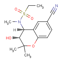 6-cyano-4-(N-ethylsulfonyl-N-methylamino)-3-hydroxy-2,2-dimethylchromane