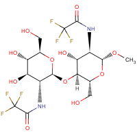 1-O-methyl-di-N-trifluoroacetyl-beta-chitobioside