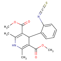2,6-dimethyl-3,5-dicarbomethoxy-4-(2-isothiocyano)phenyl-1,4-dihydropyridine