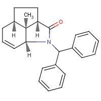 3-diphenylmethyl-11-methyl-3-azatricyclo(6.2.1.0(4,11))undec-5-en-2-one