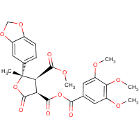 dimethyl 2,3,4,5-tetrahydro-5-(3,4-methylenedioxyphenyl)-2-oxo-3-(3,4,5-trimethoxybenzoyl)-3,4-furandicarboxylate