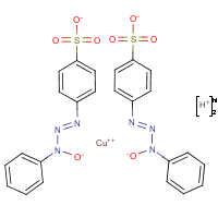 copper (II) 3-hydroxy-1-(4-phenylsulfonic acid)-3-phenyltriazene
