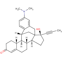4'-(dimethylamino)-17-hydroxy-17-(1-propynyl)benzo(12,12a)-11,18-cyclo-12a,12b-dihomo-estr-4-en-3-one