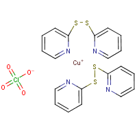 bis(bis(2-pyridyl)disulfide)copper(I)perchlorate