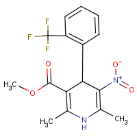 3-Pyridinecarboxylic acid, 1,4-dihydro-2,6-dimethyl-5-nitro-4-(2-(trifluoromethyl)phenyl)-, Methyl ester
