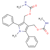 1-methyl-2,5-diphenyl-3,4-bis(hydroxymethyl)pyrrole bis(N-methylcarbamate)