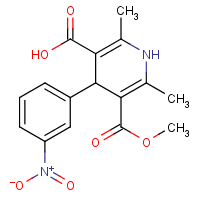1,4-dihydro-2,6-dimethyl-4--(3-nitrophenyl)pyridine-3-carboxylic acid-5-carboxylic methyl ester