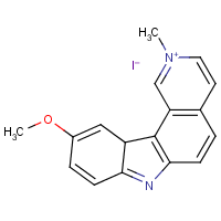 10-methoxy-2-methyl-7H-pyrido(4,3-c)carbazolium