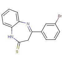 4-(3-bromophenyl)-1,3-dihydro-2H-1,5-benzodiazepin-2-thione