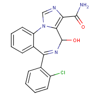 6-(2-chlorophenyl)-4-hydroxy-4H-imidazo(1,5-a)(1,4)benzodiazepine-3-carboxamide