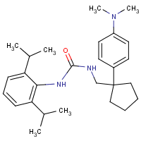 N-(2,6-bis(isopropyl)phenyl)-N'-((1-(4-(dimethylaminomethyl)phenyl)cyclopentyl)methyl)urea