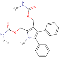 1-methyl-2,3-diphenyl-4,5-bis(hydroxymethyl)pyrrole bis(N-methylcarbamate)