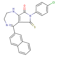 5-(2'-naphthyl)-7-4-chlorophenyl-(2,3,6,8-tetrahydro)pyrrolo-(3,4-e)(1,4)-diazepine-6-thioxo-8-(1H,7H)one