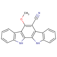 6-cyano-5-methoxyindolo(2,3-a)carbazole