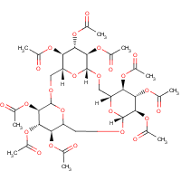 O-glucopyranosyl(1-6)-O-glucopyranosyl(1-6)-O-glucopyransoyl(1-6) 1,6''-anhydride nonaacetate