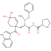 4-hydroxy-1-(1H-indol-3-ylcarbonyl)prolyl-N-(phenylmethyl)-N-methyl-tyrosineamide