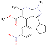 methyl 3-cyclopentyl-4,7-dihydro-1,6-dimethyl-4-(3-nitrophenyl)pyrazolo(3,4-b)pyridine-5-carboxylate